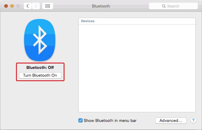 Activation du Bluetooth sur Mac