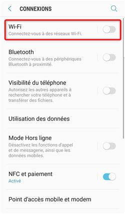 Activation du wifi