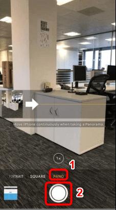 Activation du mode panorama