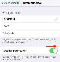 Déverrouiller l'iPhone sans appuyer sur le bouton Home