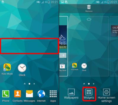 Obtenir la barre de recherche Google sur l'écran d'accueil Android