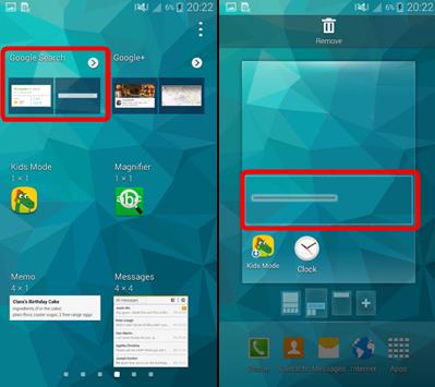 Récupérer la barre de recherche Google sur Android