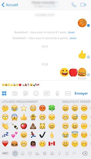 Chat avec les emojis - étape 2