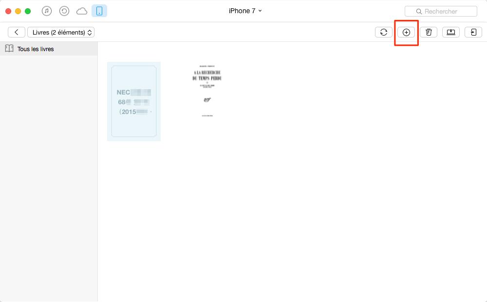 Mettre facilement les livres sur iPhone – étape 4