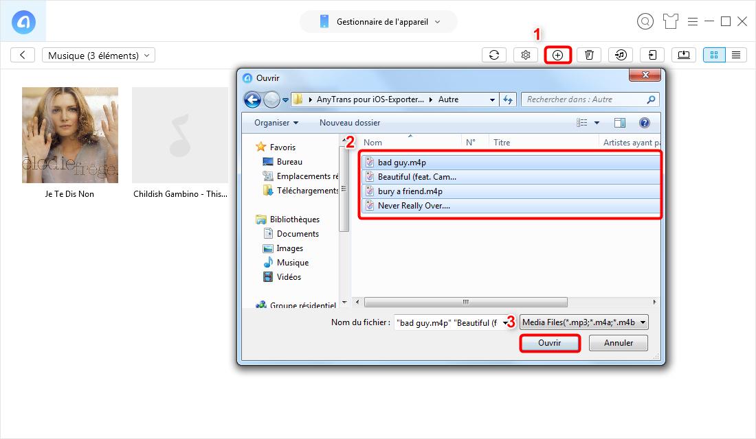 Transférer de la musique PC vers iPhone