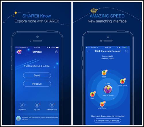 Transférer des données d'Android vers iPhone avec SHAREit