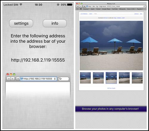 Transférer des données d'Android vers iPhone avec WiFi Photo Transfer