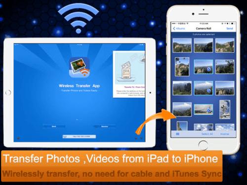 Transférer des données d'Android vers iPhone avec Wireless Transfer App