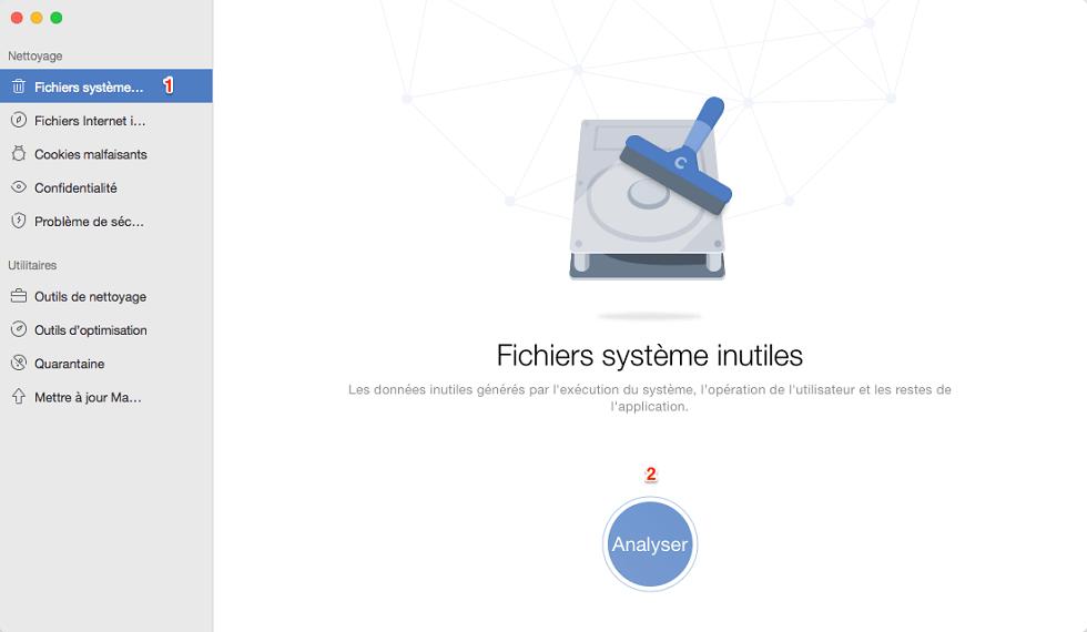 Analyser les fichiers systèmes inutiles sur Mac avec MacClean