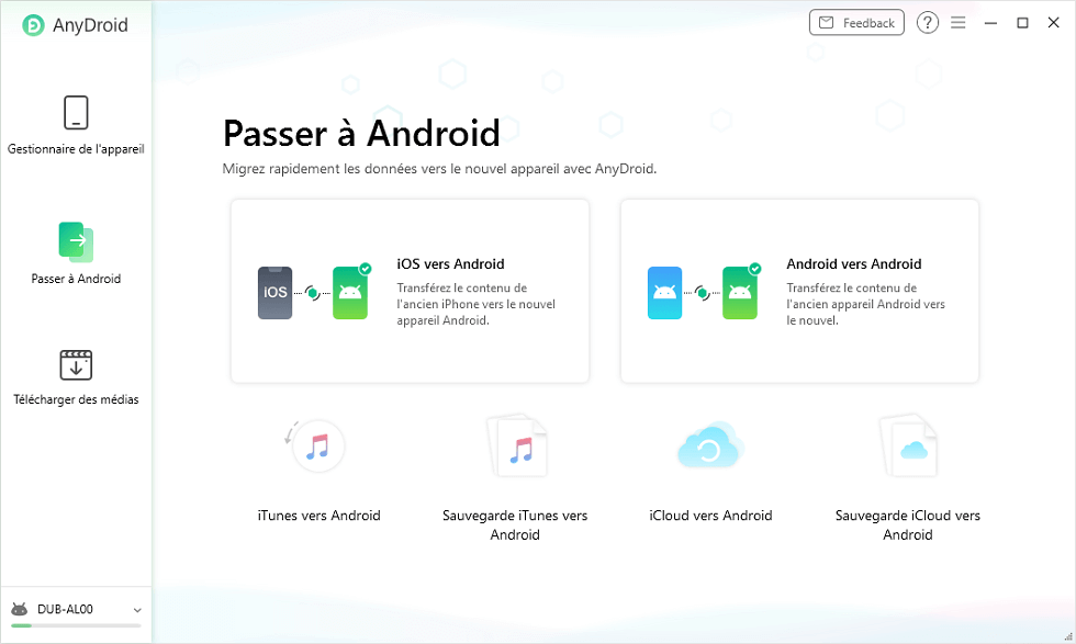 Passer à Android