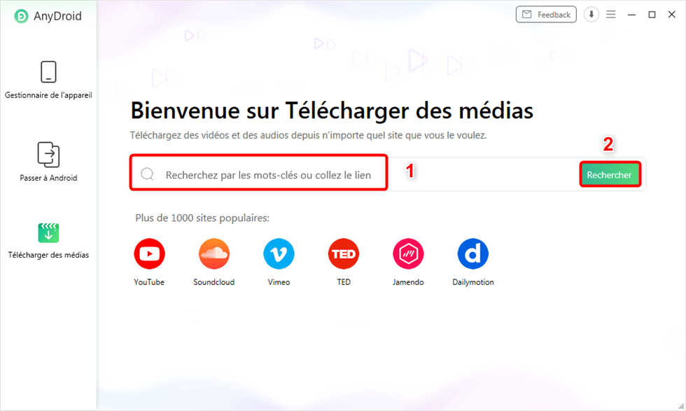 Comment télécharger mp3 Dailymotion avec AnyDroid