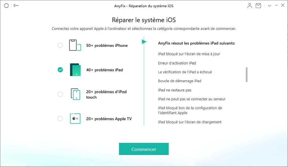 Réparer le système iOS