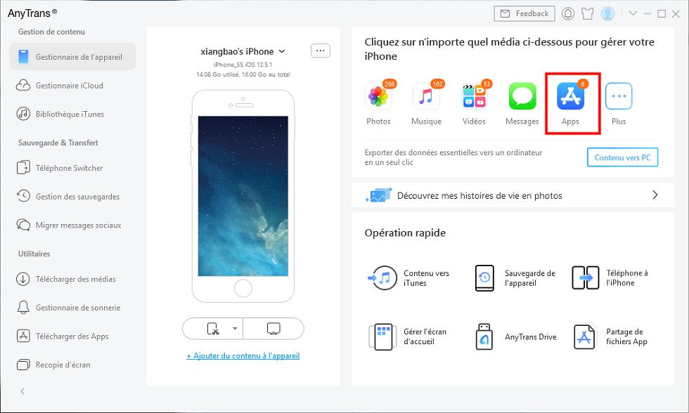 Gérer les Apps