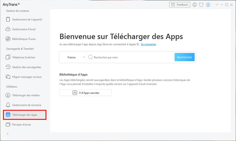 Télécharger l'app iPhone sur AnyTrans