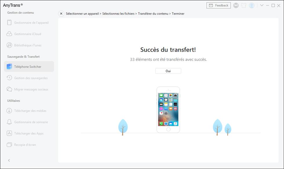 Transférer les photos téléphone vers iPhone