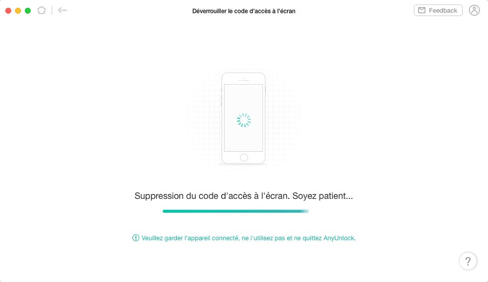 Déverrouillage de l'iPhone
