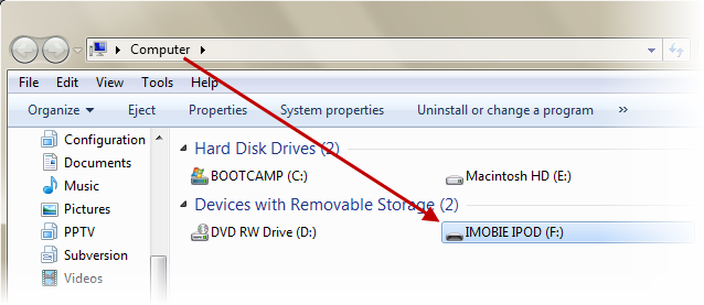 Activer l'utilisation comme disque dur2