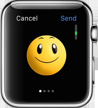 Astuces pour Apple Watch - Envoyer emoji animé