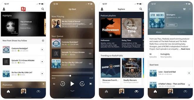 Meilleure appli podcast iPhone