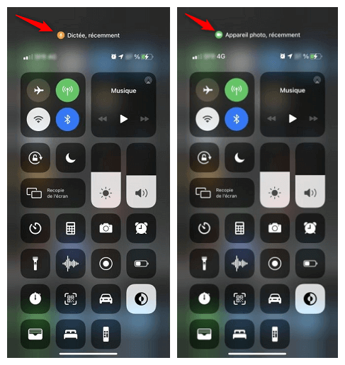 Application qui affiche le point orange/vert