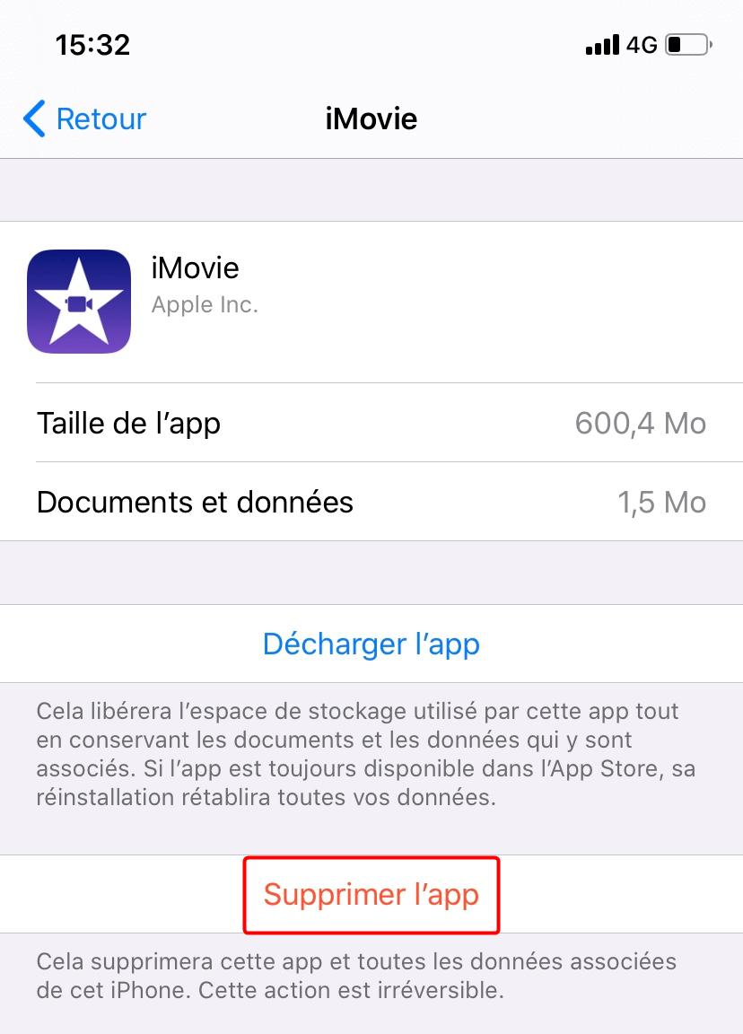 Supprimer des applications indésirables sur iPhone