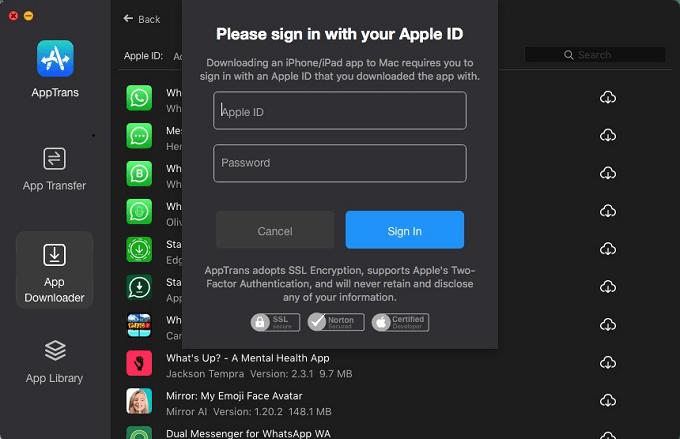 Connexion Apple ID