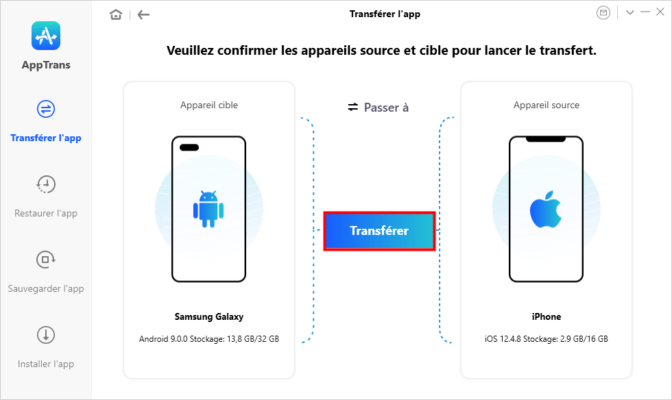 Transférer l'app Android vers iPhone