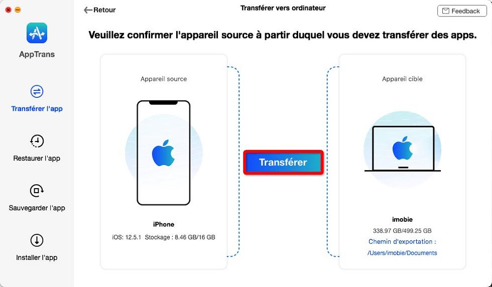 Transférer d'iPhone vers l'ordinateur