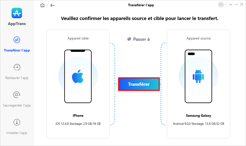 Transférer l'app iPhone vers Android