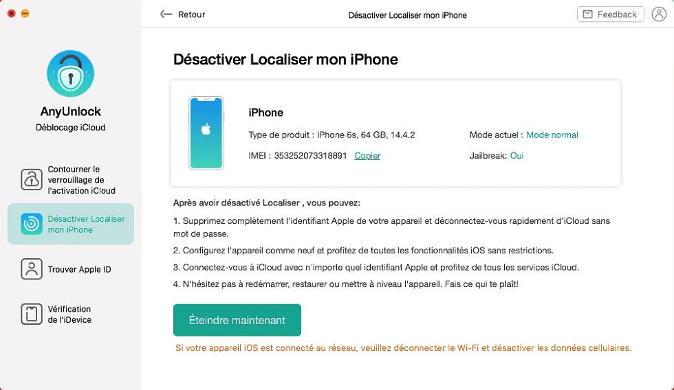 Retirer la localisation iPhone