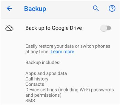 Sauvegarder sur Google Drive