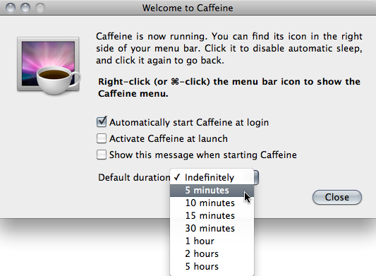Meilleures Apps pour El Capitan – Caffeine