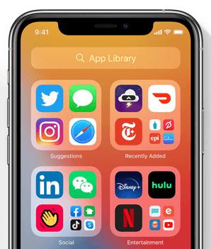 Bibliothèque d'Applications de iOS 14