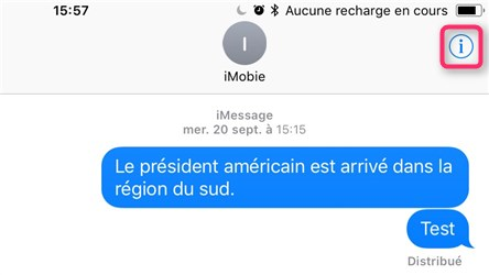 Masquer les alertes d'Messages sur iPhone iOS 11
