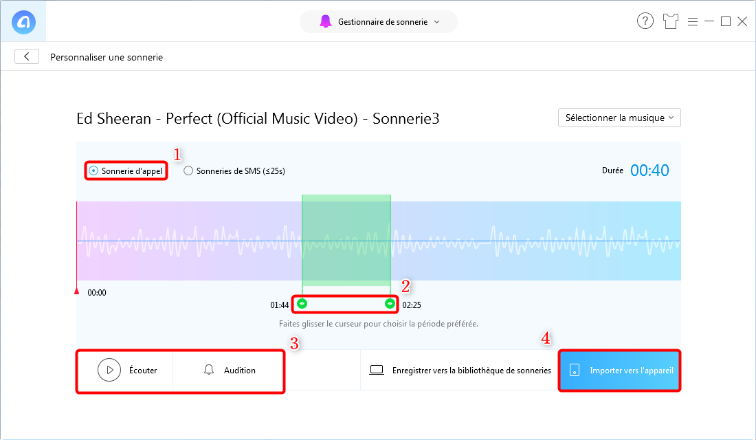 Comment personnaliser la sonnerie de l'iPhone 7 – étape 3