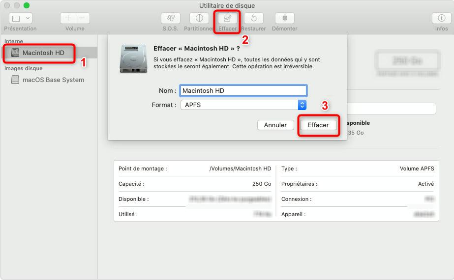 Effacer un disque dur sur Mac