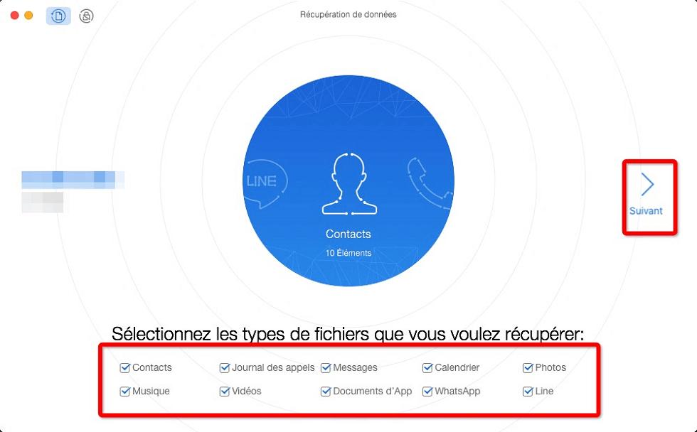 Récupération des données sur Android