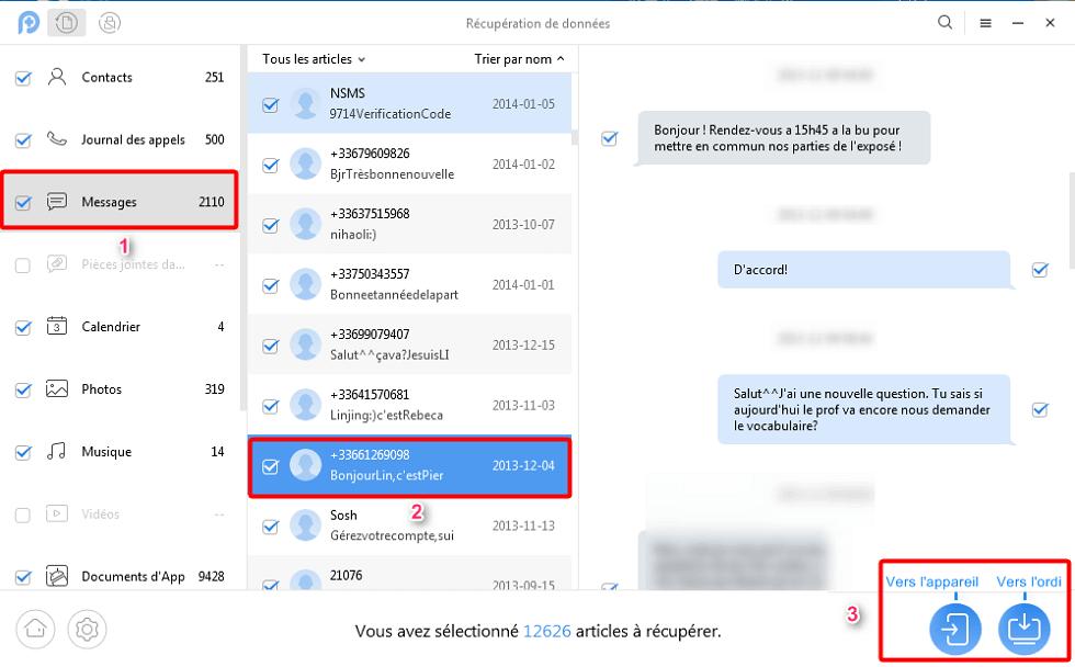 Récupérer les SMS sur Android