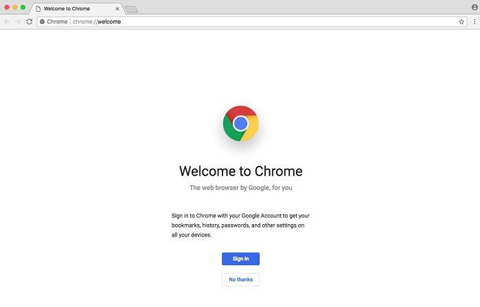 Chrome pour Mac