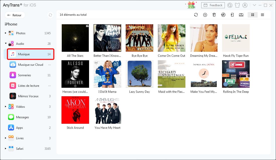 Cliquer sur Audio et Musique