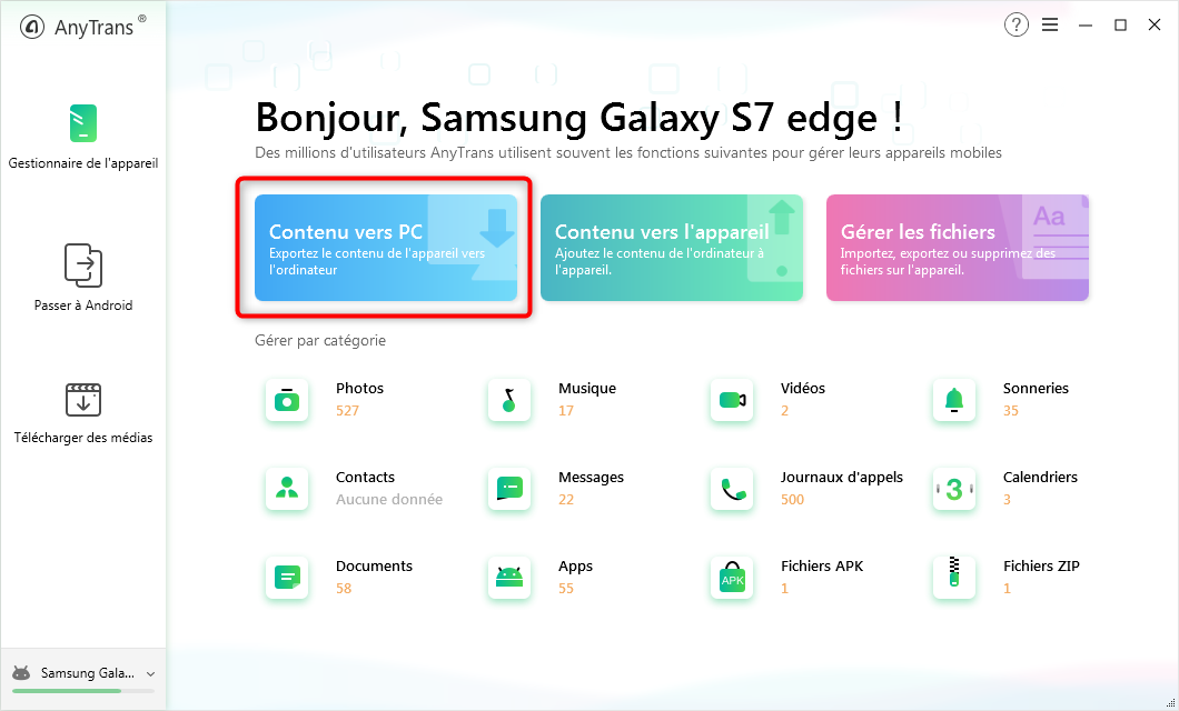 Connexion entre le téléphone Samsung et l'ordinateur