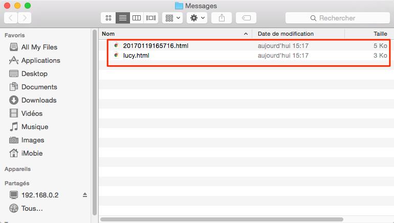 Voir les messages iCloud – étape 5