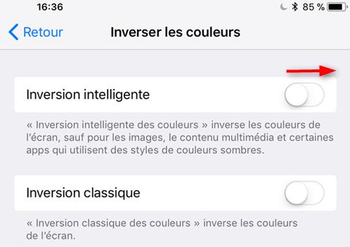 Comment faire pour activer le mode obscurité iOS 11 - Étape 4