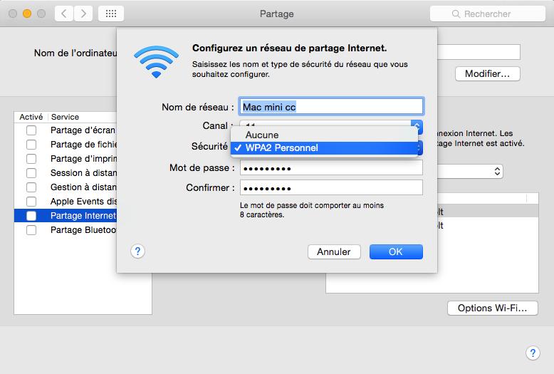 Configurer le nom de réseau
