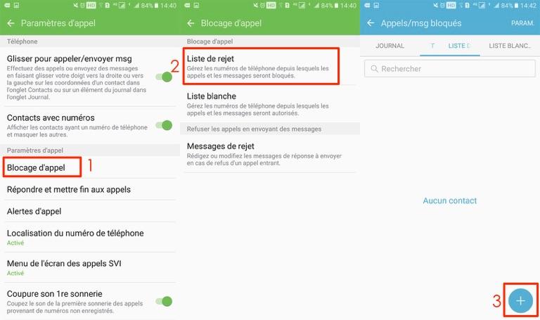 Bloquer un contact sur Samsung Galaxy S7– étape 2