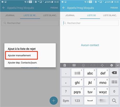 Bloquer un contact sur Samsung Galaxy S6 - étape 3