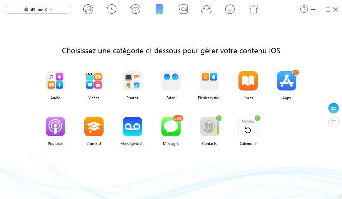 Transférer les données d'ancien appareil iOS/Android vers le nouvel iPhone
