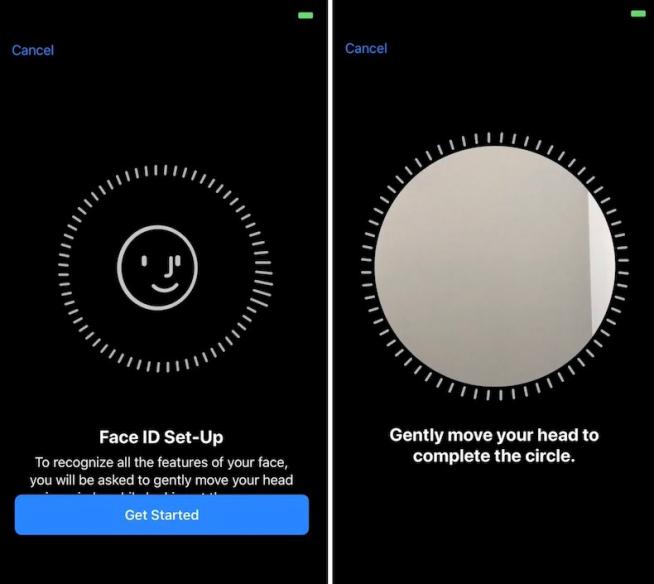 Configurez le Face ID sur iPhone 12