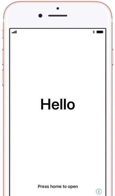 Allumez votre iPhone 8