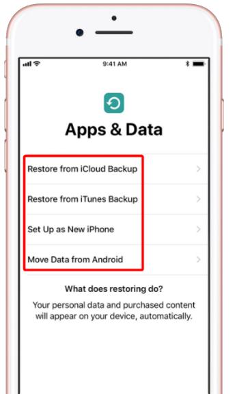 Restaurer vos applications et données